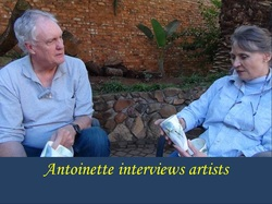 Porcelain artist Antoinette Badenhorst, interviews ceramic artists.