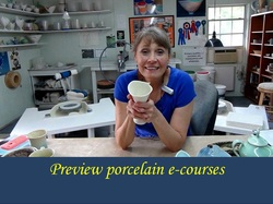 Preview the porcelain online classes by Mississippi potter Antoinette badenhorst
